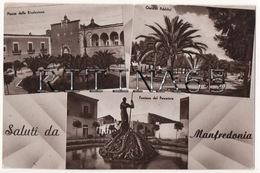 FG29 !!! MANFREDONIA VEDUTINE CON SALUTI F.P. !!! - Manfredonia