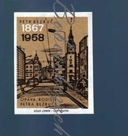 82-198 CZECHOSLOVAKIA 1967 Petr Bezruc Pseudonym Of Vladimir Vasek Czech Writer -Opava - Birthplace Troppau - Luciferdozen - Etiketten