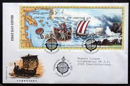 Faroe Islands  2002 Viking  MiNr.414-16  Block FDC ( Lot  6485 )FOGHS COVER - Isole Faroer
