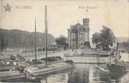Liège - Le Petit Paradis Péniches Sur Le Chenal, écluse - Edition Emile Dumont - Carte N° 20 - Liege