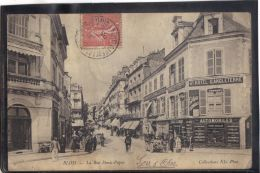 41226 . BLOIS . LA RUE DENIS PAPIN . (recto/verso) ANNEE  1905 . HOTEL D ANGLETERRE . CYCLES CLEMENT . AUTOMOBILES - Blois