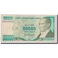 Billet, Turquie, 50,000 Lira, 1989, KM:203a, TB - Turquie
