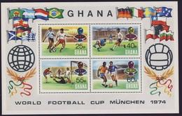 GHANA 1974 BLOC FOOTBALL-COUPE DU MONDE YVERT N°B55  NEUF MNH** - Coppa Del Mondo