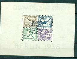 Deutsches Reich ,Olympische Spiele 1936, Block 5 Gestempelt - Deutschland