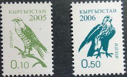 Kyrgyzstan, 2005-2006, Mi. 421A, 458A, Sc. 241, 282, SG 310, 311a, Bird, Falcon, MNH - Aquile & Rapaci Diurni