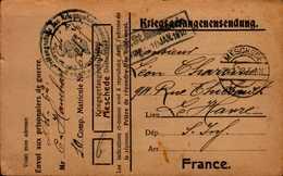 CARTE D'UN PRISONNIER DE GUERRE EN ALLEMAGNE 1918.. - War 1914-18