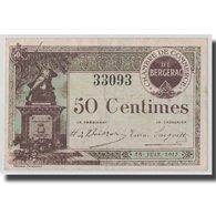 France, Bergerac, 50 Centimes, 1917, TTB+, Pirot:24-24 - Chamber Of Commerce