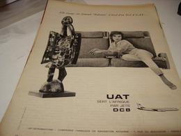 ANCIENNE PUBLICITE L AFRIQUE PAR JETS UAT  1961 - Publicités