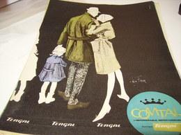 ANCIENNE PUBLICITE TISSU    TERGAL DE COMTAL  1961 - Habits & Linge D'époque