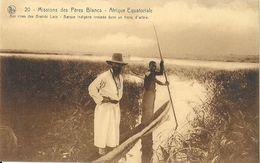Missions Des Pères Blancs, Afrique Equatoriale: Aux Rives Des Grade Lacs, Barque Indigène, Carte Nels N° 20 Non Circulée - Missions