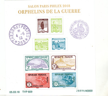 France 5226 5233 2018 Parisphilex 2018 Orphelins  F  Tirage 40 000 Neuf TB ** MNH Sin Charnela Faciale 30 Euros - France