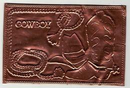 """Carte Postale Spéciale En Cuivre""""Cowboy"""" USA - Cartes Postales"""
