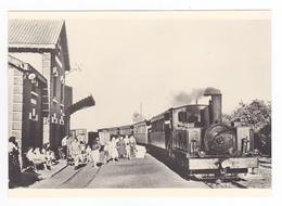 CPM TRAIN VOIR DOS 80 Le Crotoy Train Voyageurs En Gare Au Début Des Années 50 Locomotive Vapeur N°3526 - Le Crotoy