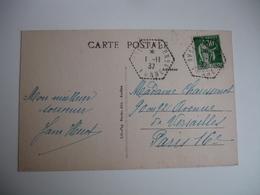 Avallon Cp 4  Recette Auxiliaire Obliteration Sur Lettre - Poststempel (Briefe)
