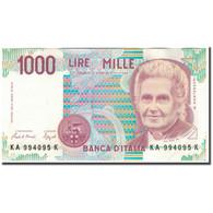 Billet, Italie, 1000 Lire, KM:114a, SUP+ - [ 2] 1946-… : République