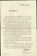129 LEONESSA 1912 LETTERA INVITO X INAUGURAZIONE SERVIZIO AUTOMOBILISTICO TERNI LEONESSA CASCIA - Documenti Storici