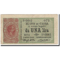 Billet, Italie, 1 Lira, KM:34, TTB - [ 1] …-1946 : Koninkrijk