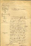 130 MOGGIO DI RIETI 1910 PARROCCHIA DI S. ELEUTERIO , LETTERA DEL PARROCO - Manoscritti