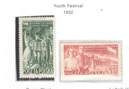 Polonia SP 1952 Festival Gioventù  Scott.B 79+80 See Scan On Scott.Page; - 1944-.... Repubblica