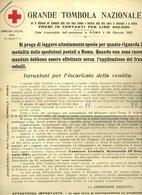 133 CROCE ROSSA ITALIANA 1925 GRANDE TOMBOLA A BENEFICIO DELLA LOTTA CONTRO TUBERCOLOSI E MALARIA - Afiches