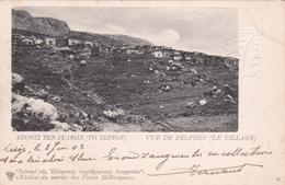 Entier Postal Grec - 1902 - Vue De Delphes (Le Village) - Ecrit-oblitéré - Postal Stationery