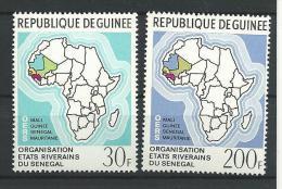 """Guinée YT 416 & 417 """" Etats Riverains """" 1970 Neuf** - Guinée (1958-...)"""