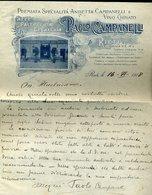 135 RIETI 1918 CAFFE PASTICCERIA GELATERIA PAOLO CAMPANELLI , PIAZZA V.E. 4 - Italy