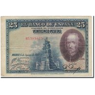 Billet, Espagne, 25 Pesetas, 1928-08-15, KM:74b, TB - [ 1] …-1931 : Premiers Billets (Banco De España)