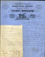 136 GROSSETO 1874 , FONDERIA OFFICINA MECCANICO AGRICOLA GROSSETANA COSIMINI E BERTILACCHI - Italie