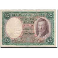 Billet, Espagne, 25 Pesetas, 1931-04-25, KM:81, TB+ - 1-2-5-25 Pesetas