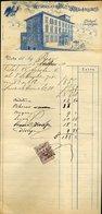 140 ANTICOLI DI CAMPAGNA 1910 ALBERGO E PENSIONE FALCONI , FATTURA - Italie
