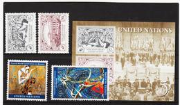 VV881 UNO NEW YORK  1995 MICHL 687/90 + BLOCK 12 ** Postfrisch Siehe ABBILBUNG - New York -  VN Hauptquartier