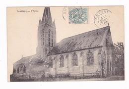 Jolie CPA Antony (Hauts-de-Seine), L'église. A Voyagé En 1903 - Antony