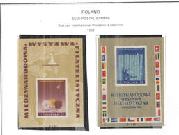 Polonia SP 1955 Mostra Filatelica Warsavia S/s   Scott.B 105+105a See Scan On Scott.Page; - Nuovi