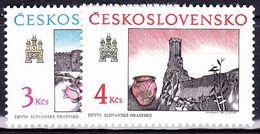 ** Tchécoslovaquie 1989 Mi 3022-3 (Yv 2823-4), (MNH) - Tchécoslovaquie