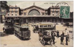75 PARIS **Gare De L'Est** (tramways, Autobus, Calèche) - Métro Parisien, Gares