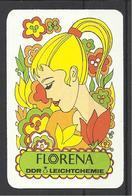 Florena, DDR Leichtchemie Ad, 1979, Back Side In Hungarian. - Calendars