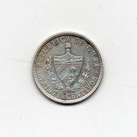 Cuba - 1949 - 20 Centavos - Argento - Vedi Foto - (MW1715) - Cuba