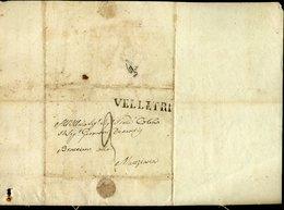 145 CISTERNA 1844 PER MANZIANA , ANNULLO DI VELLETRI E PARZIALE DI BRACCIANO - 1. ...-1850 Prephilately
