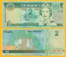 Fiji 2 Dollars P-104a 2002 UNC - Fidji
