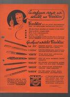 Publicité STYLOS FRANKLIN    (CAT 1257) - Publicités