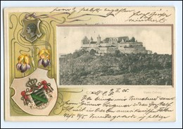 XX00618-8630/ Veste Coburg Wappen Litho Prägedruck AK 1905 - Deutschland