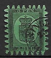 FINLANDE   -    1866  .  Y&T N° 6 Oblitéré. - 1856-1917 Russische Verwaltung