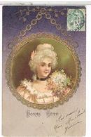 BONNE  FETE   +  DORURE  FEMME PIN UP  1905 BE        1L870 - Auguri - Feste