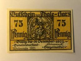 Allemagne Notgeld Thale 75 Pfennig - Collections