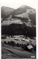 """LATERNS - Ortsbild Mit Kirche """"Zum Heiligen Nikolaus"""" Echte Fotografie, Fritz Bregenz, 9:8:1925 - Feldkirch"""