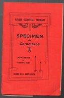 Haute Volta  Plaquette SPECIMEN DE CARACTERES  + 9 Petits Documents Volants (CAT 1262) - Publicités