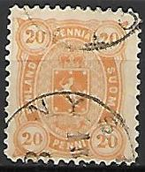 FINLANDE   -    1885  .  Y&T N° 23 Oblitéré. - 1856-1917 Russian Government