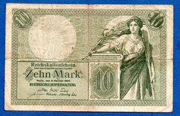 Allemagne  -  10 Mark  -  6/10/1906  - Pick # 9  -  état  TB - 10 Mark