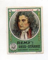 Y7295/ Reklamemarke Schriftsteller Jean De La Fontaine Remy`s Reis-Stärke  - Famous People